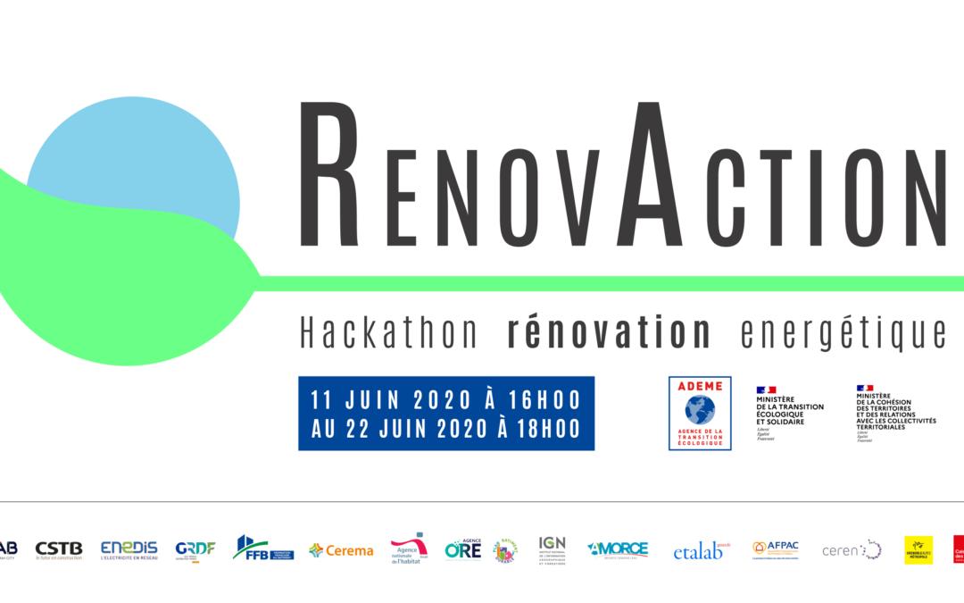 Remise des prix du hackathon #RenovAction ce 24 juin 2020